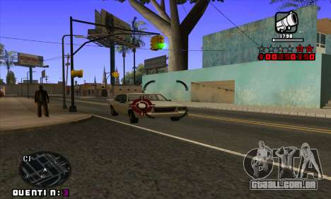 C-HUD Quentin para GTA San Andreas sexta tela
