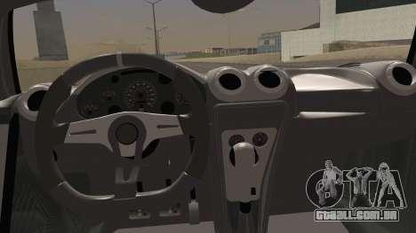 Gumpert Apollo Sport V10 para GTA San Andreas vista direita