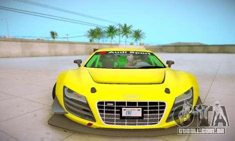 Audi R8 LMS Ultra v1.0.0 para vista lateral GTA San Andreas
