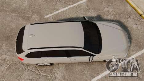 BMW 330d Touring (F31) 2014 Unmarked Police ELS para GTA 4 vista direita
