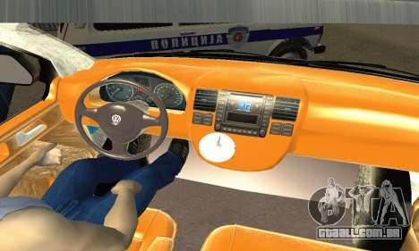 Volkswagen Transporter Policie para GTA San Andreas vista direita