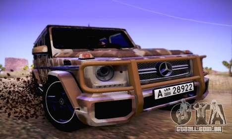 Mercedes Benz G65 Army Style para GTA San Andreas esquerda vista