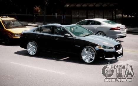 Jaguar XF-R 2012 v1.2 para GTA 4 vista lateral