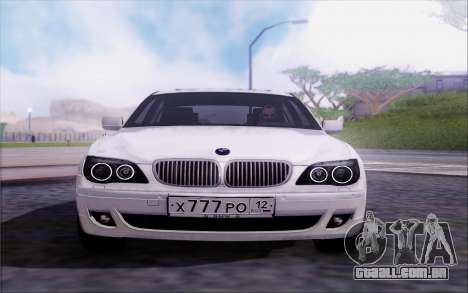 BMW 760Li E66 para GTA San Andreas vista traseira