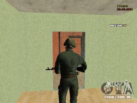 O exército russo moderno para GTA San Andreas sexta tela