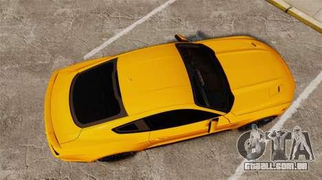 Ford Mustang GT 2015 v2.0 para GTA 4 vista direita