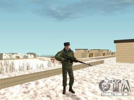 Militar no inverno uniforme para GTA San Andreas por diante tela