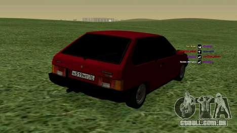 VAZ-2108 para GTA San Andreas vista direita