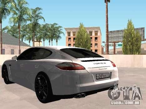 Porsche Panamera 2011 para GTA San Andreas esquerda vista
