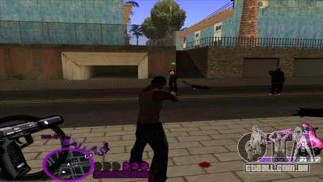 C-HUD Ballas by HARDy para GTA San Andreas terceira tela