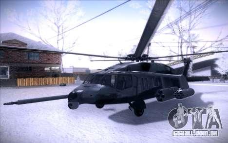 MH-X Silenthawk para GTA San Andreas esquerda vista