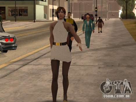 Menina vestido branco para GTA San Andreas segunda tela