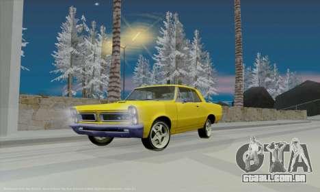 Pontiac GTO 1965 para vista lateral GTA San Andreas