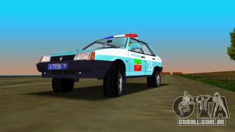 VAZ 21099 milícia para GTA Vice City vista traseira esquerda