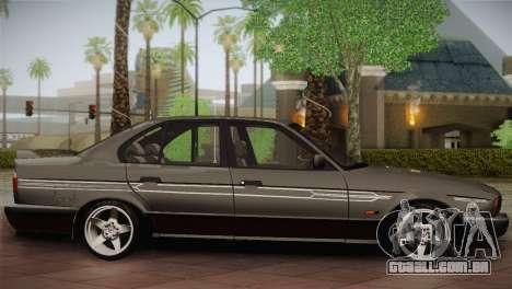 BMW E34 Alpina B10 para GTA San Andreas esquerda vista