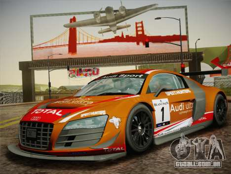 Audi R8 LMS Ultra W-Racing Team Vinyls para vista lateral GTA San Andreas