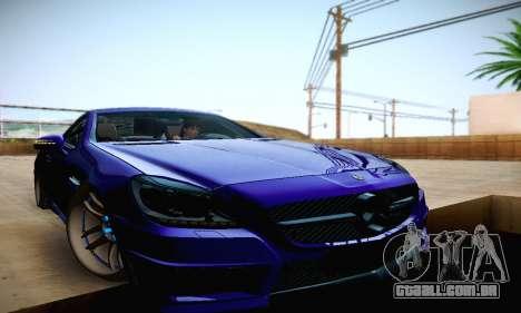 Mercedes Benz SLK55 AMG 2011 para GTA San Andreas vista superior