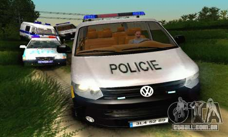 Volkswagen Transporter Policie para GTA San Andreas vista interior