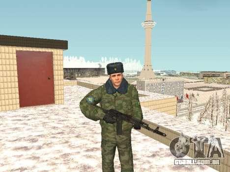 Militar no inverno uniforme para GTA San Andreas