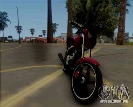 Honda Titan para GTA San Andreas esquerda vista