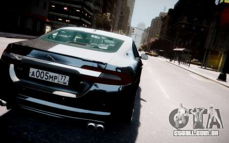 Jaguar XF-R 2012 v1.2 para GTA 4 vista inferior