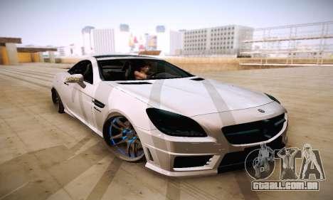 Mercedes Benz SLK55 AMG 2011 para GTA San Andreas vista traseira