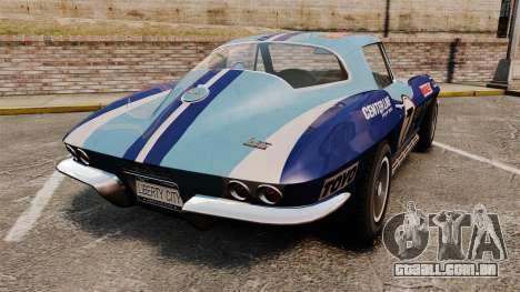 Chevrolet Corvette C2 1967 para GTA 4 traseira esquerda vista