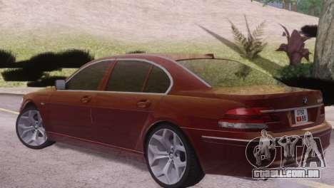 BMW 750Li E66 para GTA San Andreas vista direita