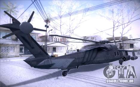 MH-X Silenthawk para GTA San Andreas traseira esquerda vista