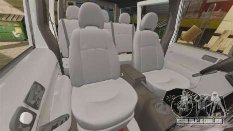 Ford Transit Connect Turkish Police [ELS] v2.0 para GTA 4 vista lateral