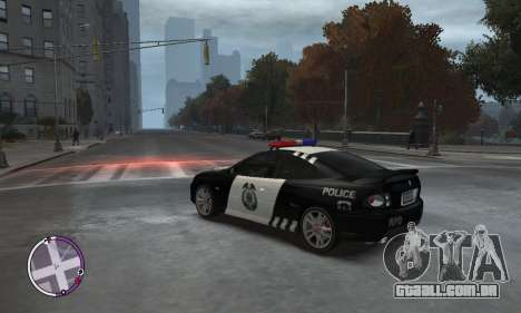 Holden Monaro CV8-R Police para GTA 4 esquerda vista