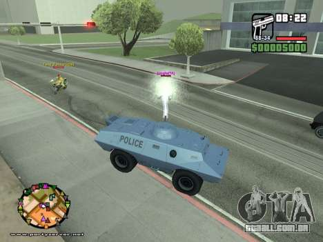 SA-MP 0.3z para GTA San Andreas décimo tela