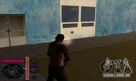 C-HUD by Andy Cardozo para GTA San Andreas por diante tela