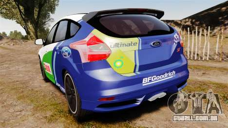 Ford Focus ST Rally para GTA 4 traseira esquerda vista