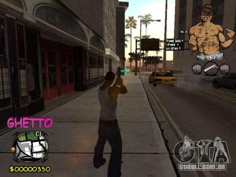 C-HUD 2pac para GTA San Andreas quinto tela