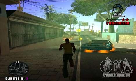 C-HUD Quentin para GTA San Andreas quinto tela