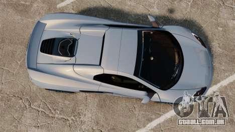 McLaren MP4-12C Spider 2013 para GTA 4 vista direita