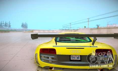 Audi R8 LMS Ultra v1.0.0 para GTA San Andreas vista traseira