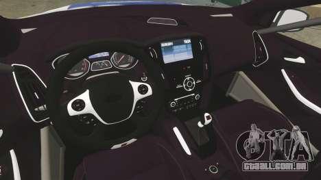 Ford Focus ST Rally para GTA 4 vista de volta