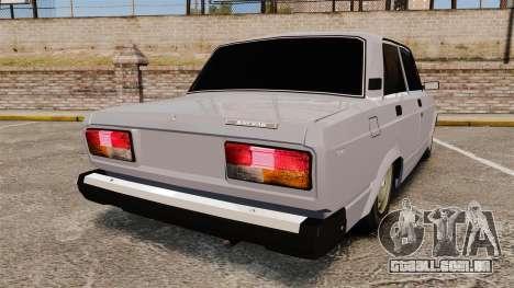 UTILIZANDO-Lada 2107 para GTA 4 traseira esquerda vista