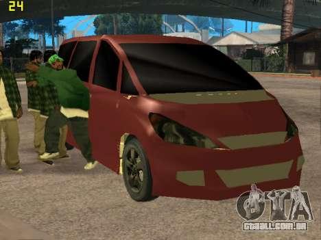 Toyota Estima 2wd para GTA San Andreas vista traseira