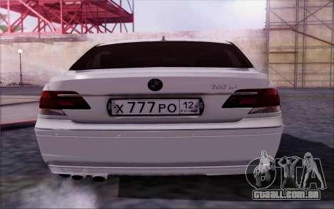 BMW 760Li E66 para GTA San Andreas vista direita
