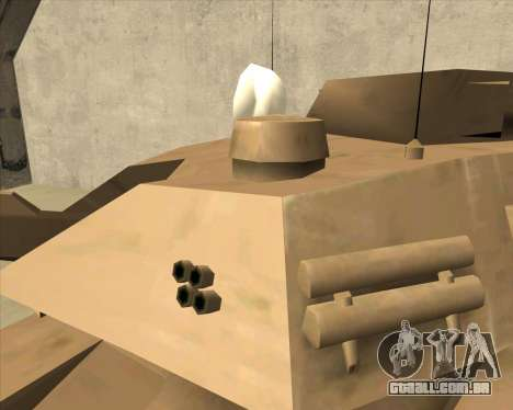 Rhino Mark.VI para GTA San Andreas vista direita