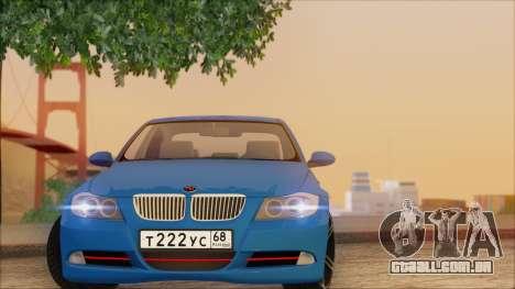 BMW 330i para GTA San Andreas vista interior