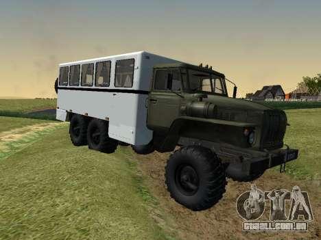 Ural 32551-0011 Assistir para GTA San Andreas traseira esquerda vista