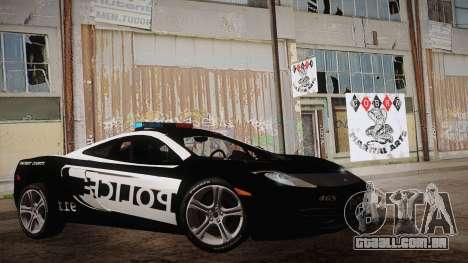 McLaren MP4-12C Police Car para GTA San Andreas