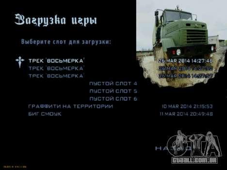 Arranque telas Soviética Caminhões para GTA San Andreas oitavo tela
