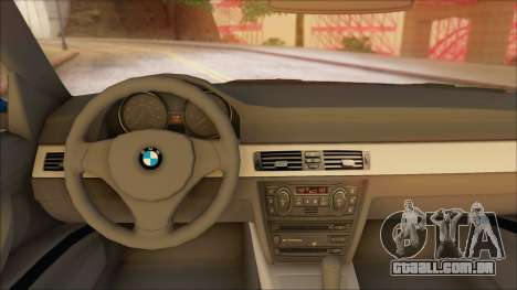 BMW 330i para GTA San Andreas traseira esquerda vista
