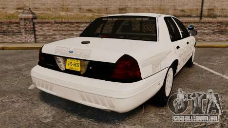 Ford Crown Victoria Traffic Enforcement [ELS] para GTA 4 traseira esquerda vista