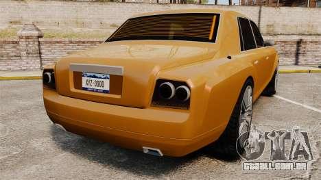 Super Diamond VIP para GTA 4 traseira esquerda vista